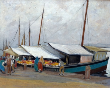Hermann Gradl, Obstmarkt in Split (Kroatien)