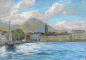 Mobile Preview: Ferdinand Brauer, Hafen am Luganer See