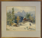Preview: Georg Gsundbrunn, Alpine Winterlandschaft mit Jäger