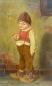 Preview: Painter from Munich (Herrmann Kaulbach circle), boy with apple