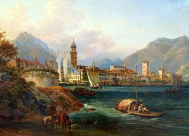 Heinrich Adam (1787-1862), Look at Riva del Garda Italia