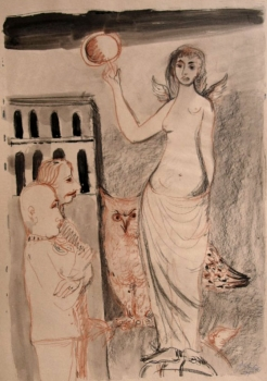 Georg Weidenbacher, Female figure with owl