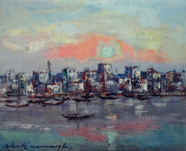 Erwin Shoultz-Carrnoff, City and ships at sunrise