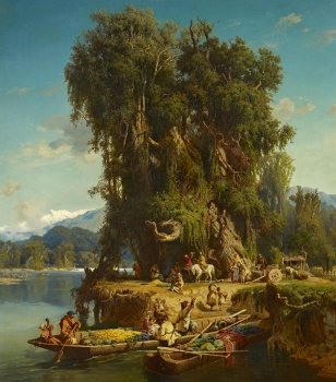 Paul von Franken, Caucasian farmers with boats