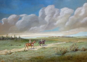 Georges Swertschkoff, Two riders in the countryside