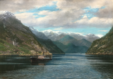 Von Colomb, Steamboat at the inner end of Sørfjord near Odda in Norway