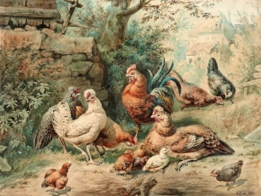 Robert Erbe, poultry in the garden