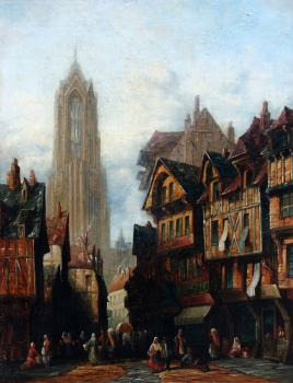 Henry Thomas Schaefer, View of the Imperial Cathedral of St. Bartholomew in Frankfurt am Main