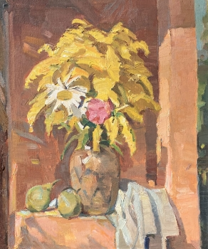 Hans Oertle, Still life with goldenrod