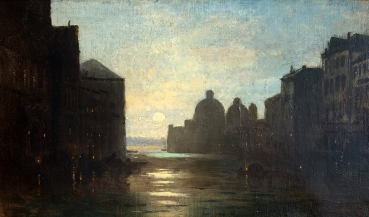 Ludwig Mecklenburg, Venice by moonlight