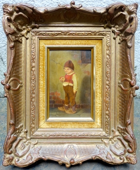 Painter from Munich (Herrmann Kaulbach circle), boy with apple