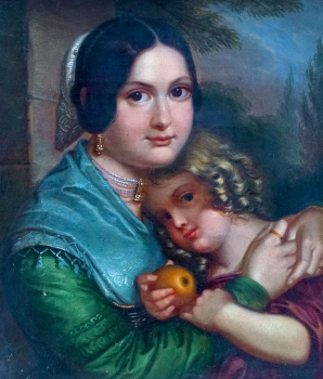 Georg Wilhelm Wanderer, Portrait of a mother with her child