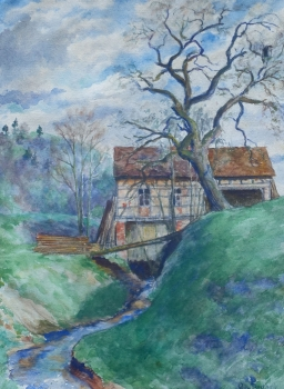 Willy Berthold, mill at the stream