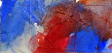 Hans Kern, Composition with red and blue