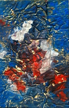 Hans Kern, Abstract composition with blue and red