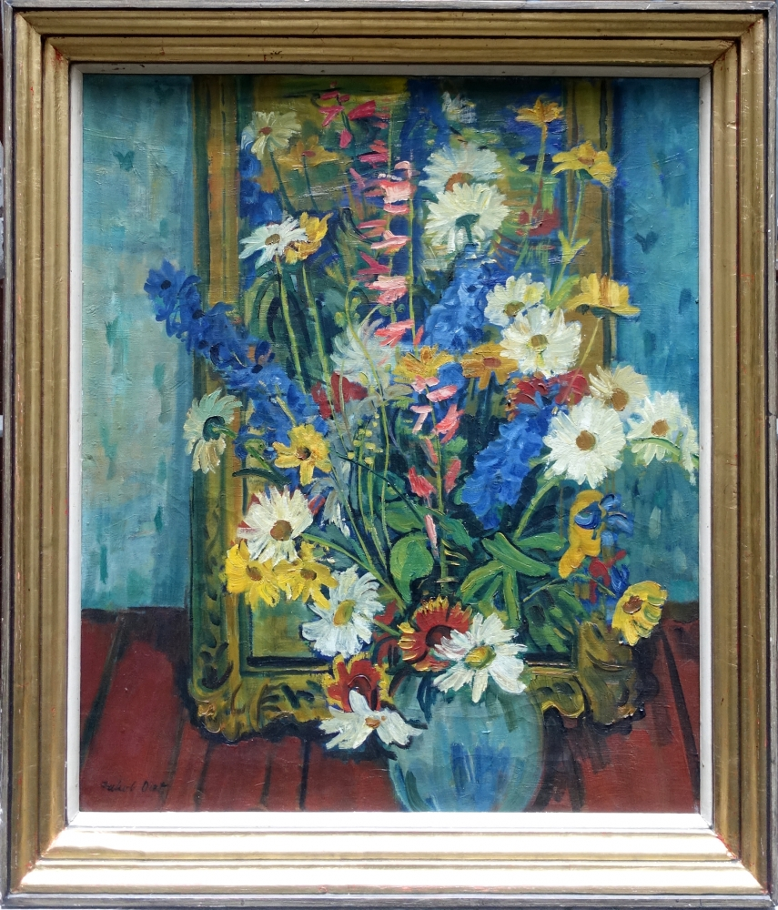 Jakob Dietz, still life with flowers