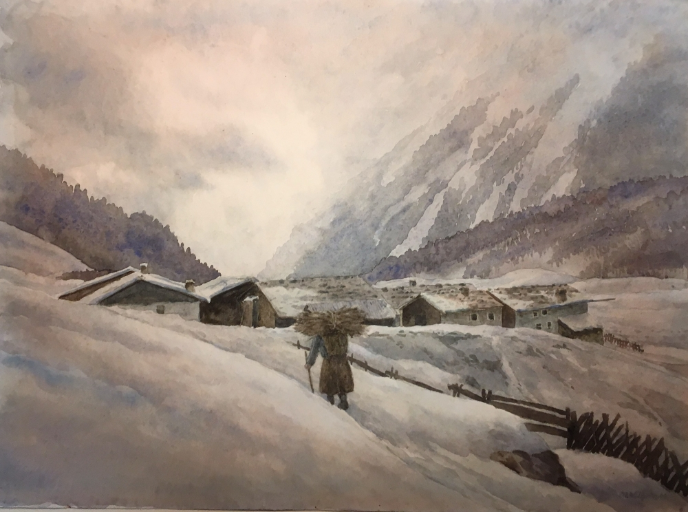 Martin Wilhelm, Winterabend im Sellraintal
