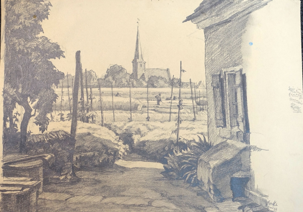 Hans Oertle, View of the church in Kraftshof