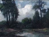 J.? Horváth, river in the forest